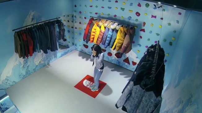 North face store with disappearing floor - Corporate Image