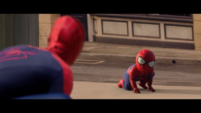 evian's partnership with The Amazing Spiderman in their latest installment for the Live Young campaign.  Courtesy of adweek.com.