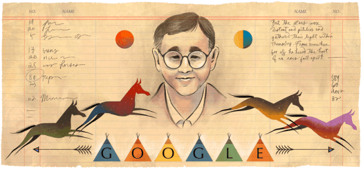James Welch Google Doodle (GalleyCat)