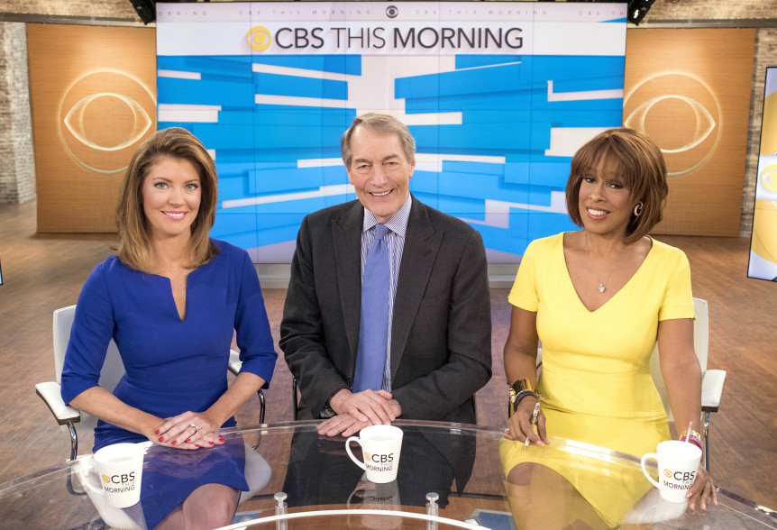 Image result for charlie rose gayle king and norah o'donnell