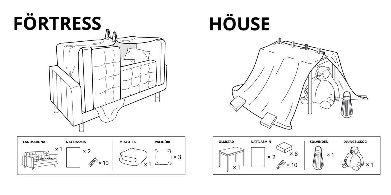 Ikea Created Instructions for 6 Ways to Make Furniture