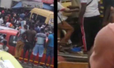 Breaking News: 4 Injured As Sprinter Bus Crashes Into Phone Shop At Circle 2