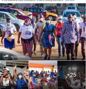 (PHOTOS): Samini joins Ursula Owusu-Ekuful's campaign trail 4