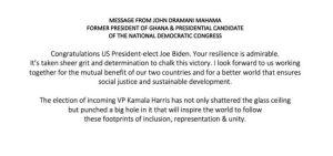 'I'm looking forward to work with you' – Mahama congratulates Biden 4
