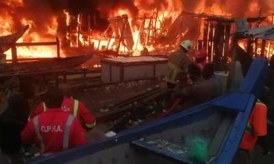 Video: Sekondi fishing bay ravaged by fire 2