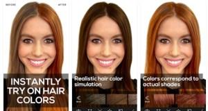 Aplikasi pengubah warna rambut di Android