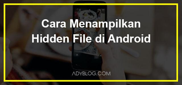 Cara Menampilkan Hidden File di Android