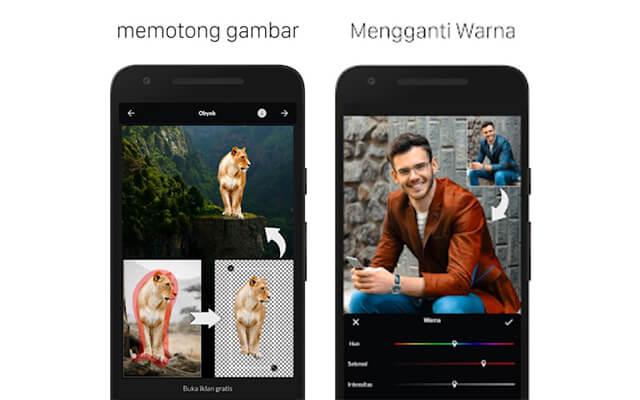 Aplikasi Edit Background Foto untuk Android