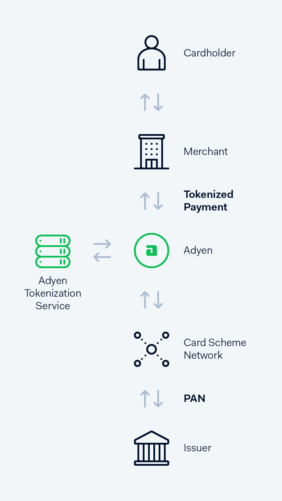 hight resolution of the tokenization payment flow
