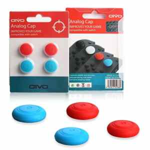 Silicone Thumb Grip Stick Caps for Nintendo Switch Joy-Con Controllers - 4 pack