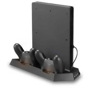 ps4 slim console cooling stand station charging dock