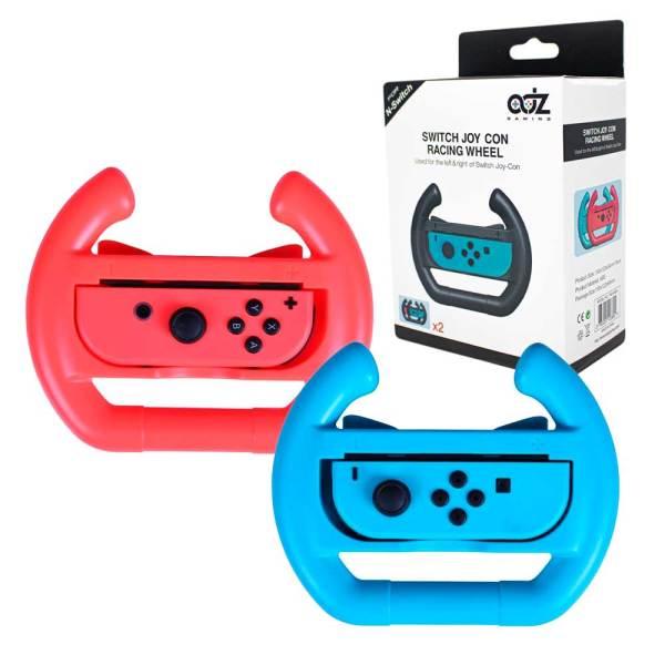 adz gaming nintendo switch mario kart wheel red blue