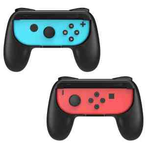 dobe tns-851b black nintendo switch joy-con handle grips adz gaming
