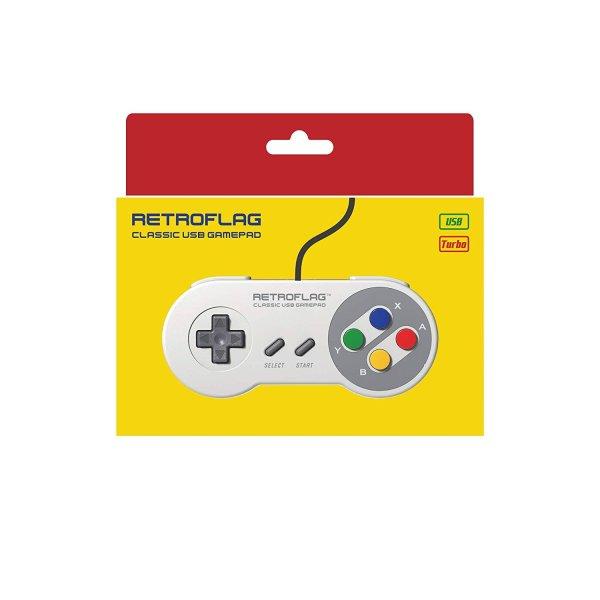 retroflag superpi jpad wired usb super nintendo classic gamepad for rspbarry pi