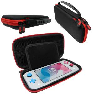 nintendo switch lite case ballistic nylon black red