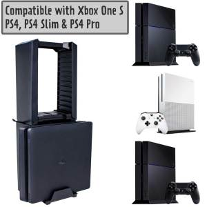 PS4 Xbox One S Games Storage Tower vertical console stand