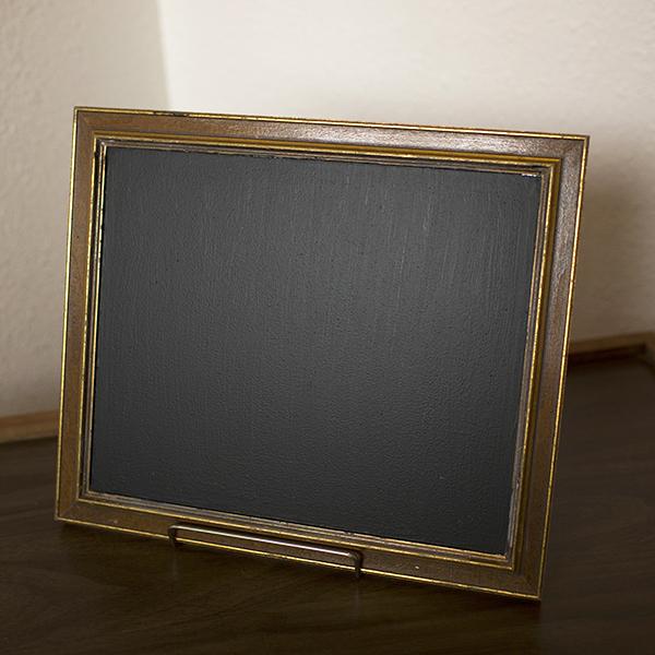 medium wood framed chalkboard
