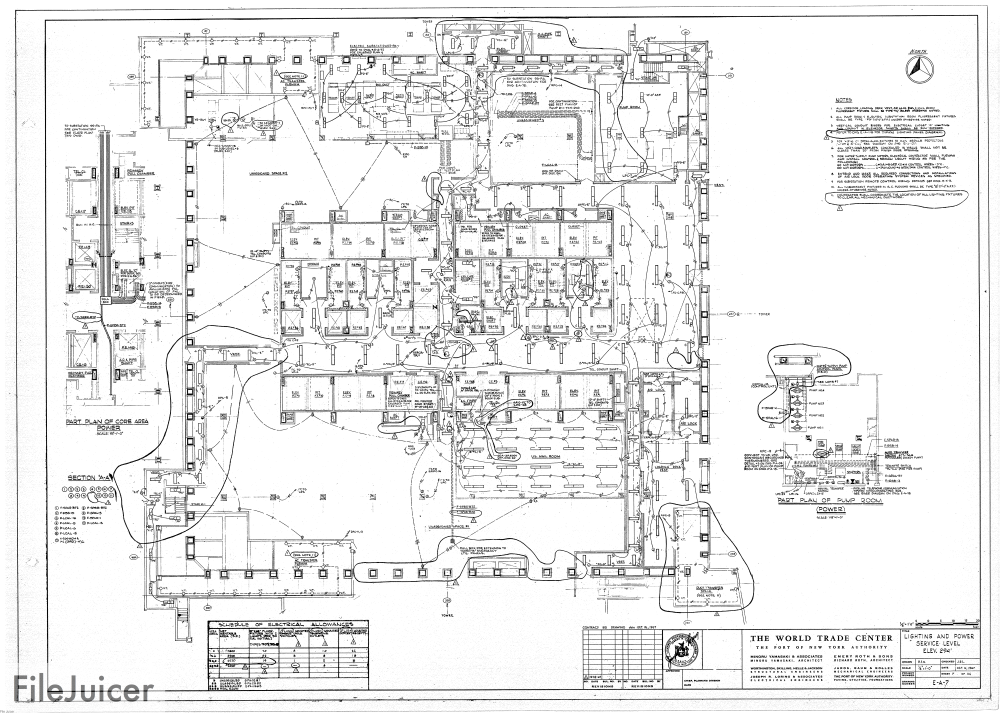 medium resolution of table of world trade center tower a electrical drawings