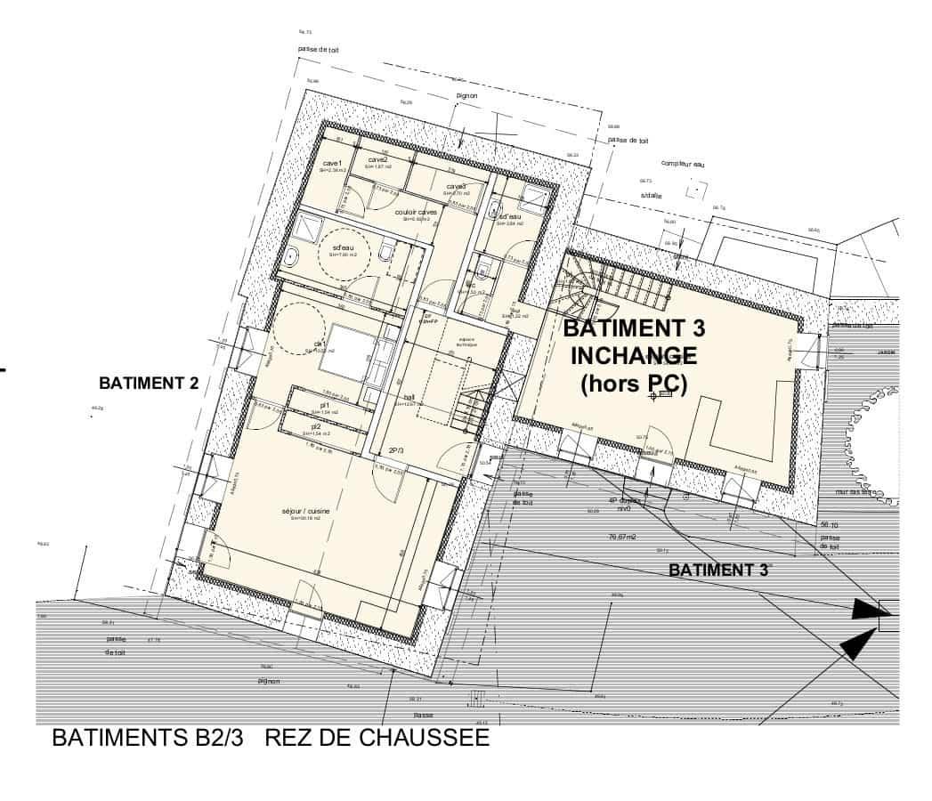 Bâtiments 2-3, rez-de-chaussée
