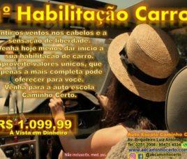1ª Habilitação Carro apenas R$ 1.099,99