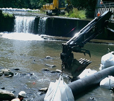 Trask Dam Removal - Redirecting Water Flow