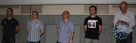 Paolo Fava, Miquel Baidal, Iñako Pérez, y Miquel Durán, ponentes en Ciencia en Redes 2014.