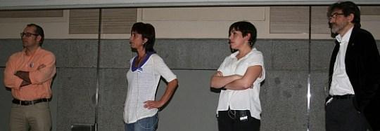 Los periodistas Pablo Jáuregui, Lorena Sáncehz, Pampa García y Arturo Larena contaron su experiencia en Ciencia en Redes 2014.