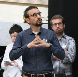 Pampa García, Michele Catanzaro y Antonio Villareal debatieron sobre periodismo de ciencia y redes sociales.