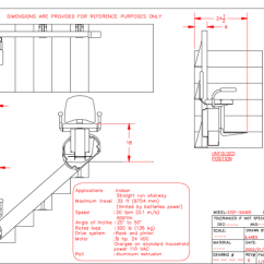 Wheelchair Emirates Swivel Shower Chair With Back And Arms Step-saver Stairlift - Cad Drawing (savaria Gulf)