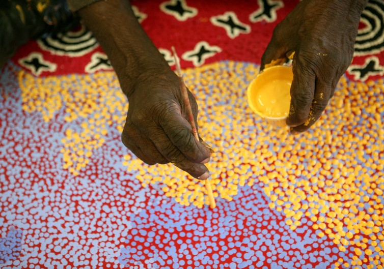 Dot Paintings With Children Australian Education And Care