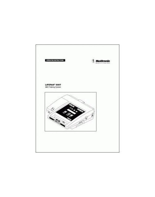 Physio-Control Operator Manual for LP500 Training Unit