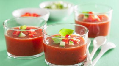 Gazpacho para mejorar el funcionamiento digestivo