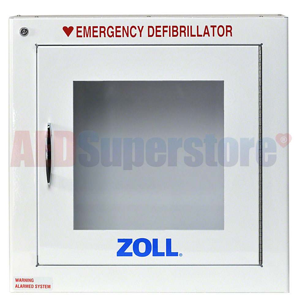 ZOLL AED Plus OEM Surface Mount Cabinet WAlarm AED