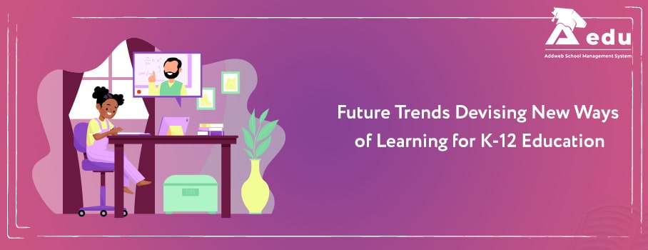 Image contain text as Online education trends