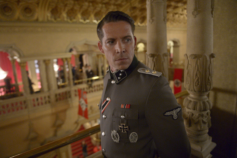 """TIMELESS -- """"Party At Castle Varlar"""" Episode 103 -- Pictured: Sean Maguire as Ian Fleming -- (Photo by: Sergei Bachlakov/NBC)"""