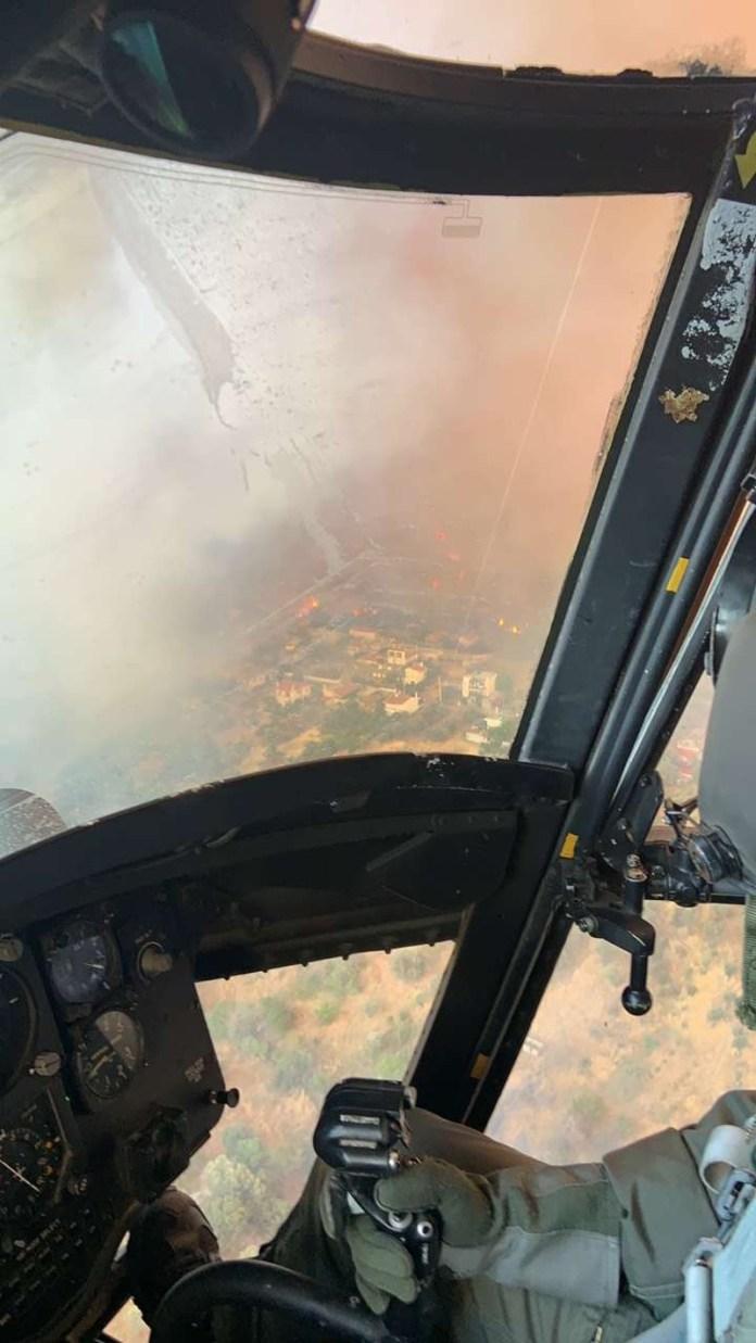 Πώς βλέπουν οι πιλότοι από ψηλά την φωτιά
