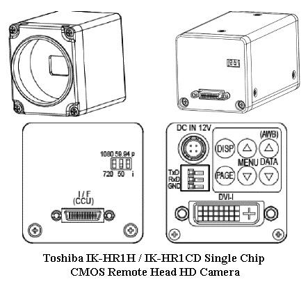 New Toshiba Single-Chip CMOS HD Remote Head Camera @ 60fps