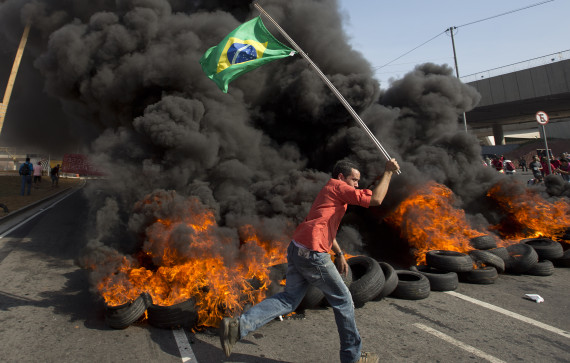 Homeless Workers' Movement protest in Sao Paulo
