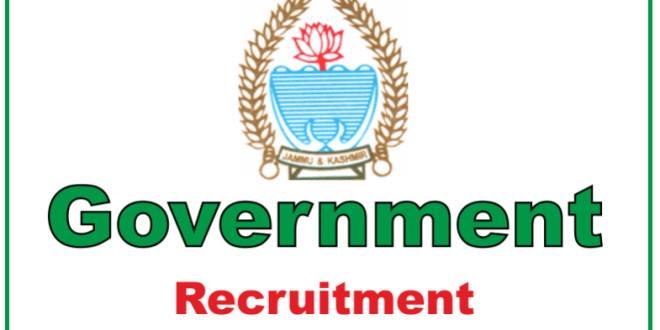 Government of Jammu and Kashmir Recruitment 2018 Online Apply for 64 Vacancies