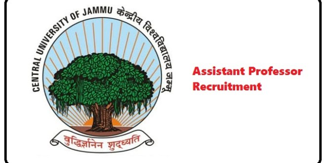 Assistant Professor Recruitment at Cluster University of Jammu. Posts for all streams