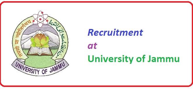 Jammu University Recruitment for various posts