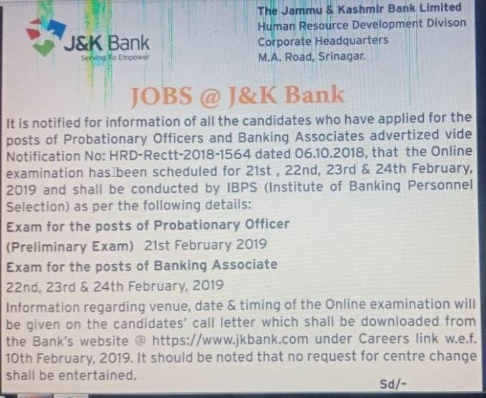 49346171 2189372101151135 3392655805969858560 n Jammu and Kashmir Bank BA and PO Exam Dates, Syllabus, Paper Pattern and Salary