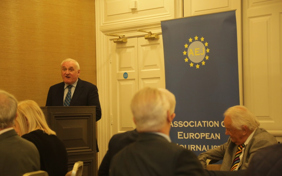 Former Taoiseach Bertie Ahern Addresses AEJ 17th Oct 2019
