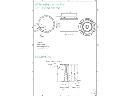 Ballast: Metal Halide 15/20/25W 12V DC