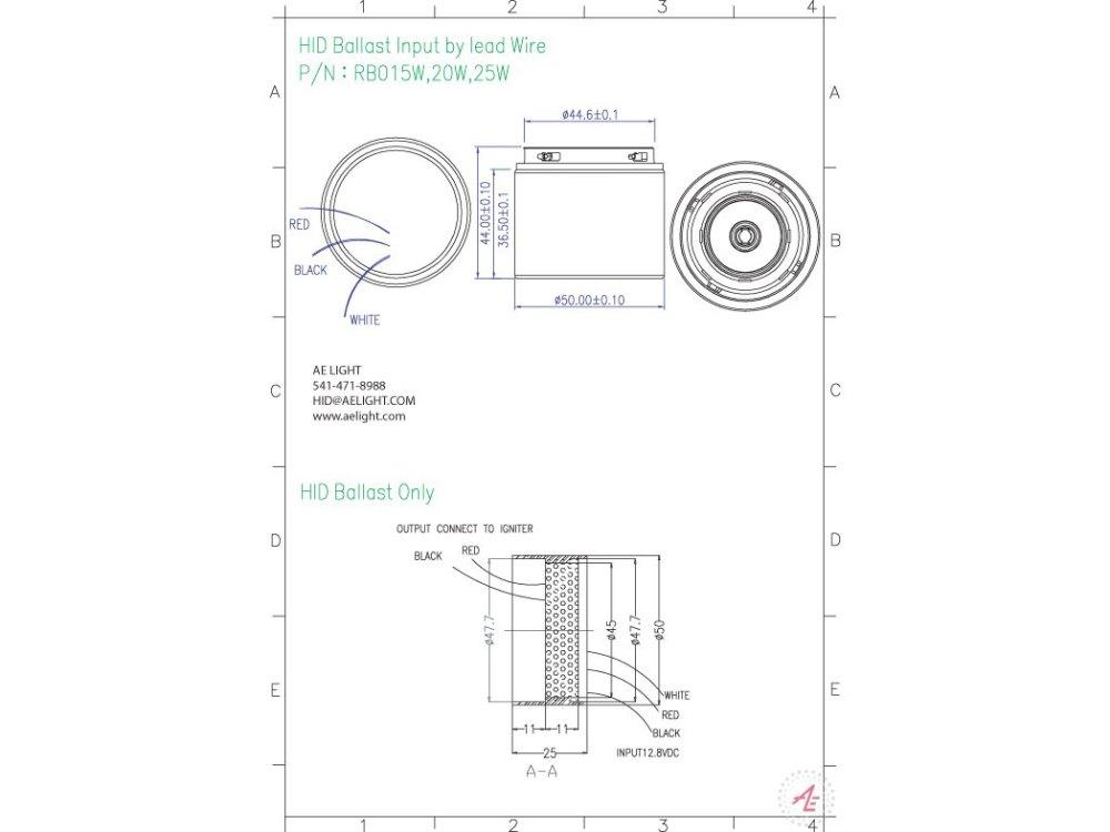 medium resolution of ballast metal halide 15 20 25w 12v dc
