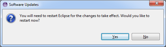 restart eclipse after plugin installation