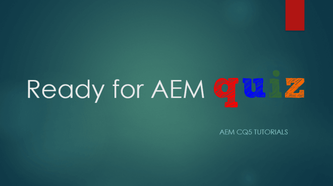 aem test series quiz practice interview questions