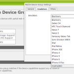 add custom emulator to device group in aem 6