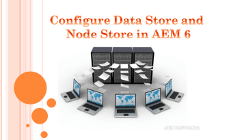 configure data store and node store aem 6.1