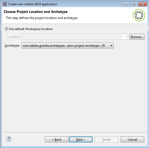 create aem application in eclipse